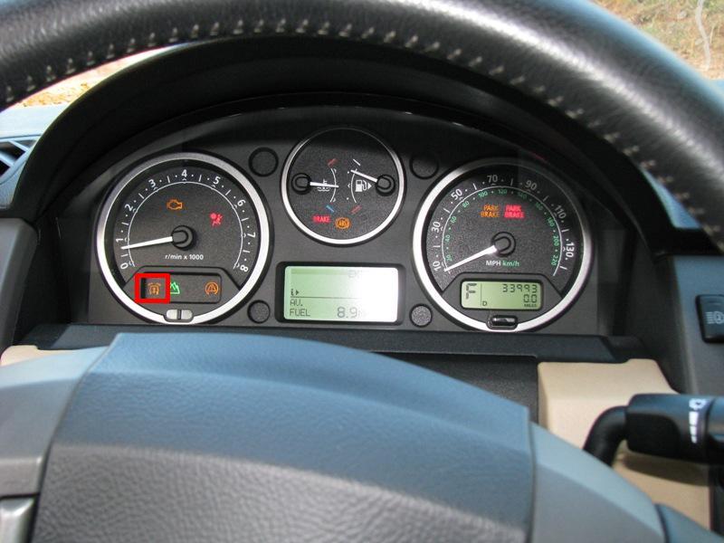 D What Warning Light Dash Lights Vsm on Land Rover Lr3 2006 Dashboard