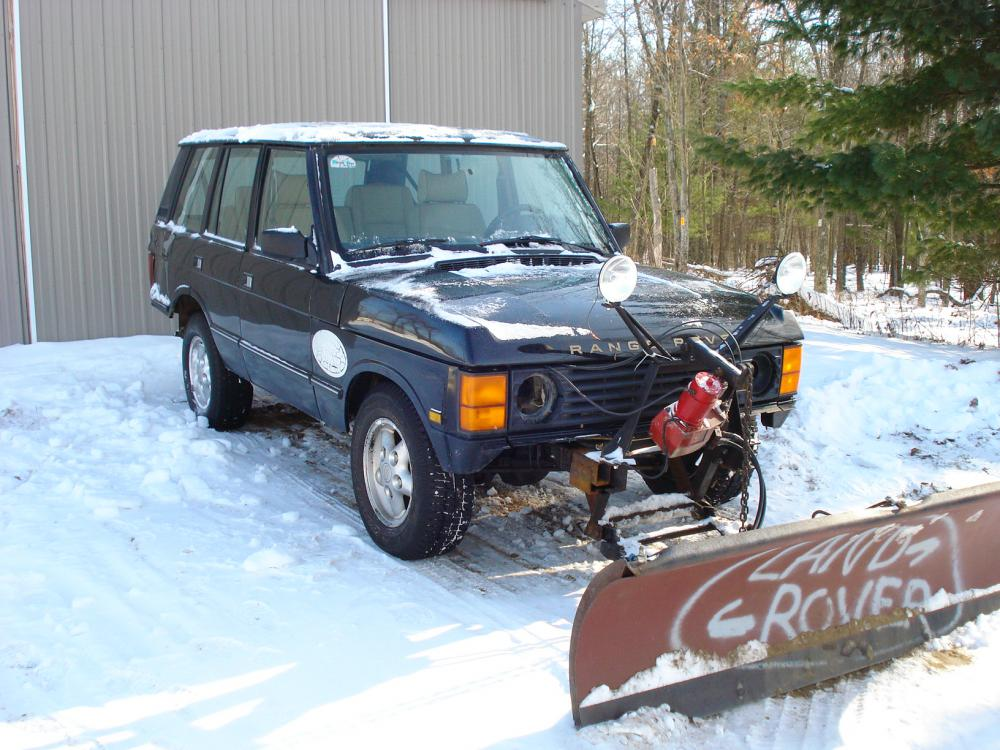 Range Rover Truck >> Snow plow on a classic??? - Land Rover Forums : Land Rover and Range Rover Forum