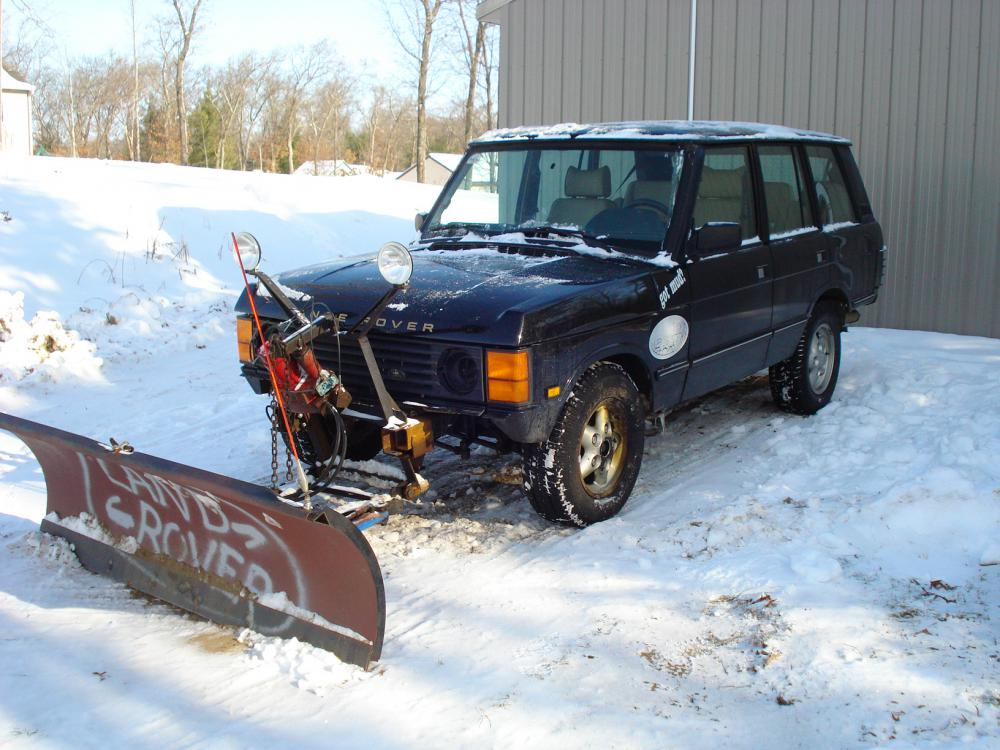 Snow plow on a classic??? - Land Rover Forums : Land Rover