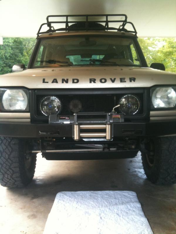 Warn Powerplant Winch On A 2004 D2 With A Rovertym Wide