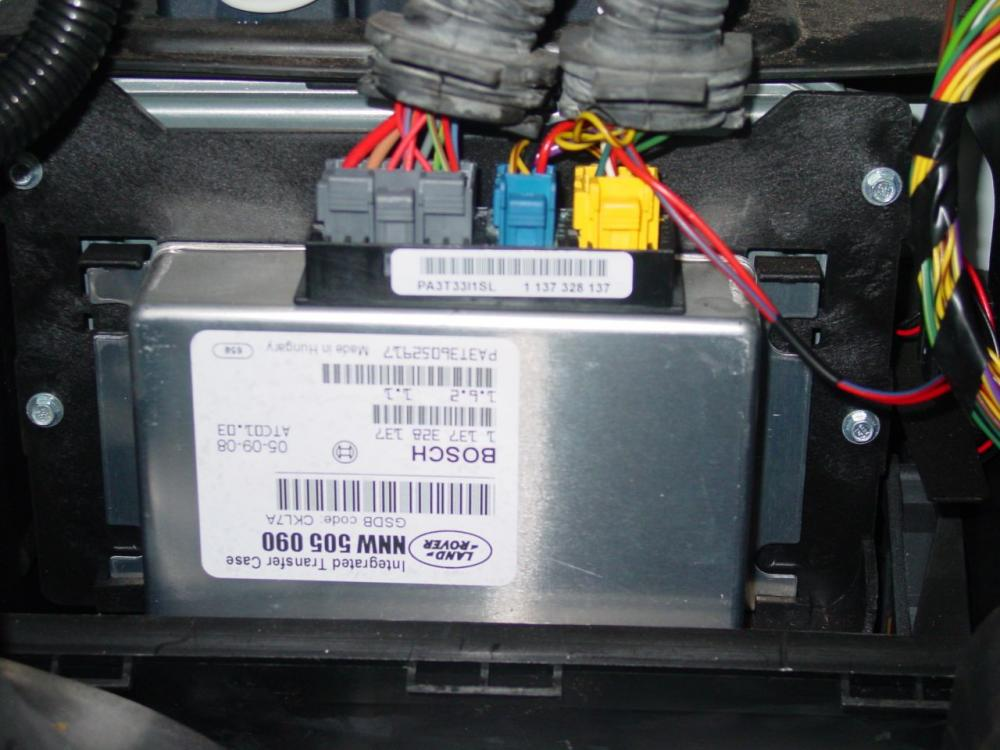 2004 range rover air suspension ecu location