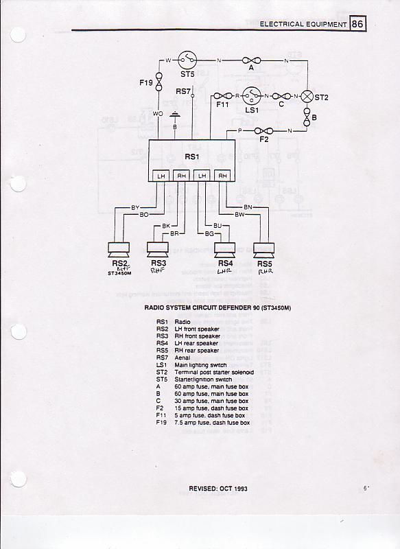 Radio Wiring Land Rover Diagram Data
