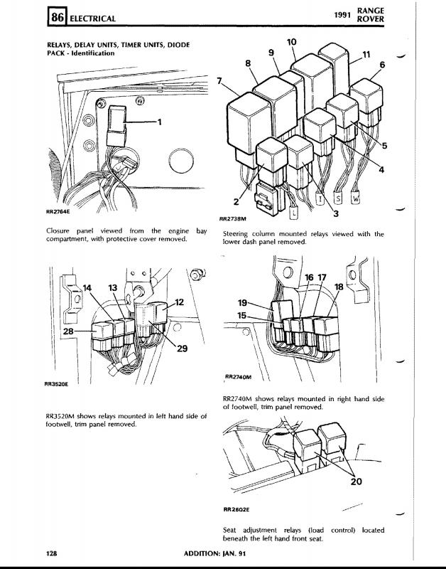 27540d1296573659 exact location c heater relay 91rrc realy 15 range rover classic add fuse box land rover wiring diagrams for 2004 range rover fuse box diagram at bayanpartner.co