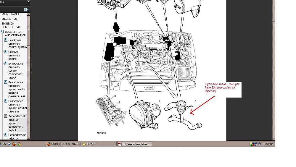 Codes 1412 1415 P0171B Vacuum hose Land Rover Forums Land – Land Rover Discovery 2 Engine Vacuum Diagram