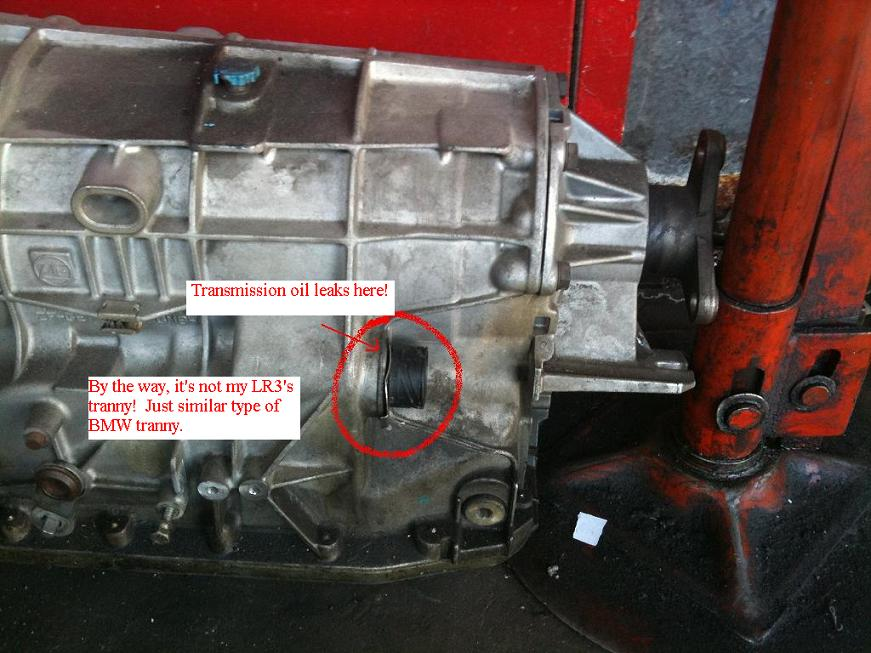 Transmission Oil Leaks For 2006 Lr3 V6 Se Land Rover Forums Land Rover And Range Rover Forum