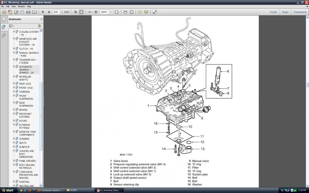 2003 land rover discovery crankshaft sensor location